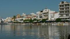 Lake Voulismeni in Agios Nikolaos Stock Footage