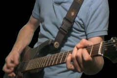 Teenager Rocks Out While Playing His Electric Guitar 5 Stock Footage