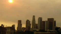 Sunset During LA Fire - stock footage