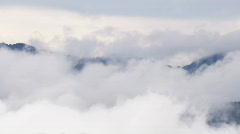 Sea of clouds in tropical forest Stock Footage
