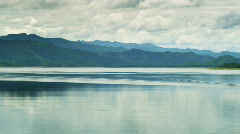 Lake in Thailand with boat Stock Footage