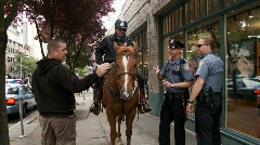 Mounted police Stock Footage