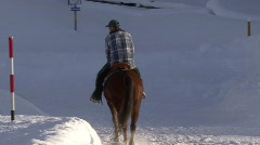 Horse Rider In Snow  - stock footage