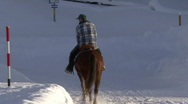 Stock Video Footage of Horse Rider In Snow