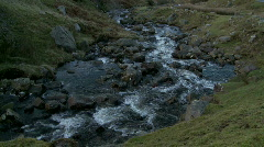 Looking down a small stream or river Stock Footage