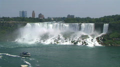 American Niagara Falls at Niagara River Stock Footage