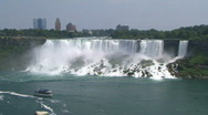 Stock Video Footage of American Niagara Falls at Niagara River
