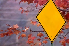 Yellow Street Sign Add Your Own Message Stock Footage