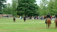 Union and Confederate cavalry skirmish 636-2 Stock Footage