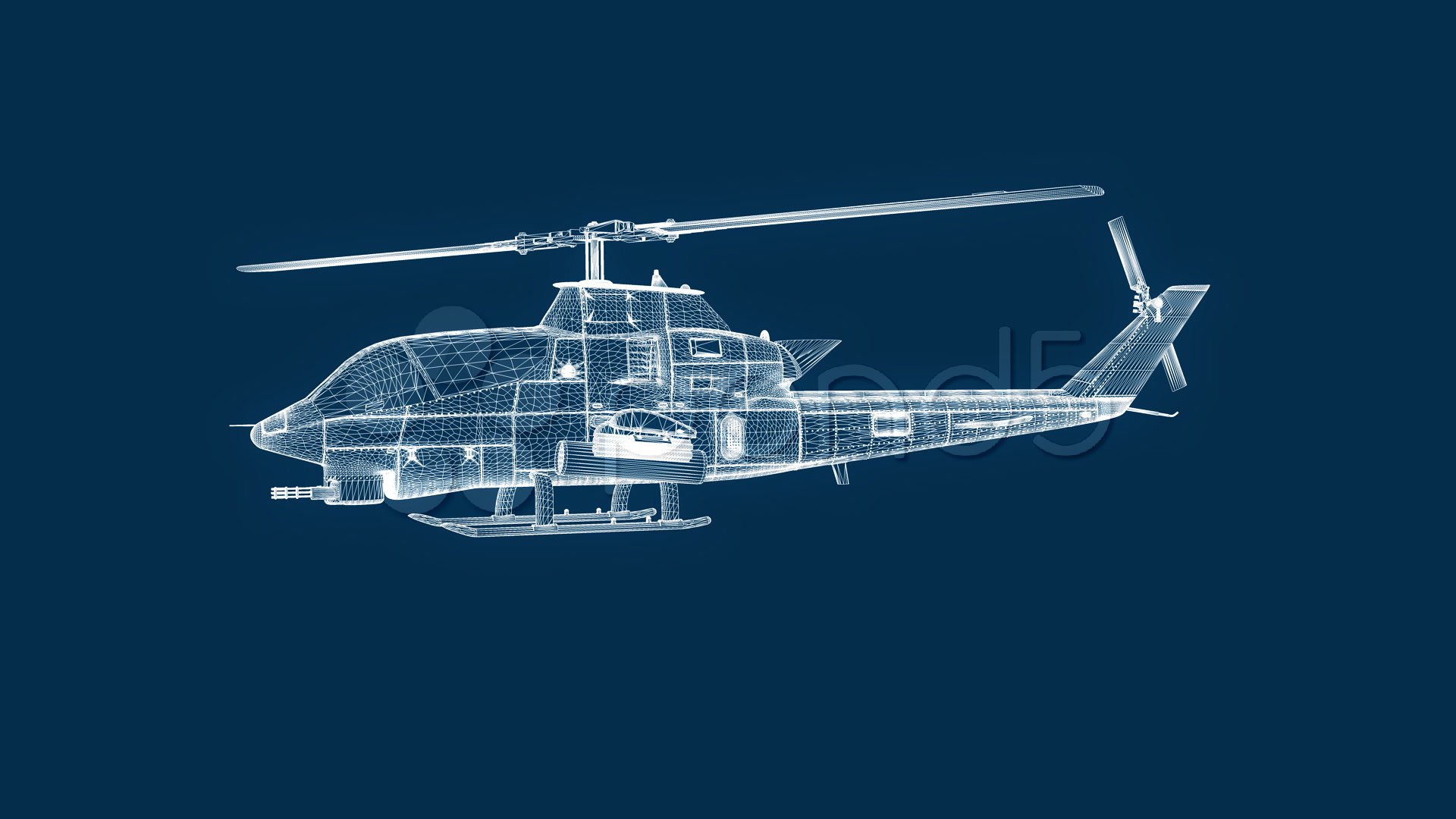 Blue thunder helicopter wallpapercharger blue thunder fs2004 stock video blueprint helicopter seamless loop 508599 malvernweather Choice Image