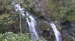 Waterfalls on the road to Hana, Maui Hawaii 3 of 4 Stock Footage