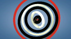 Red, black and white rotating 3d rings with alpha mate - loopable - stock footage