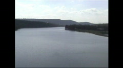 Lake Austin wide no boats 2 Stock Footage