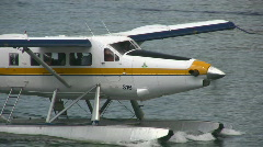 Close Up Seaplane Stock Footage