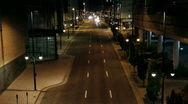 Downtown street at night time lapse - Zoom In Stock Footage
