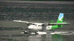 Seaplane On Water Stock Footage