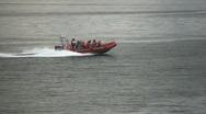 Zodiac Boat Stock Footage