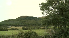 Forest and fields on Mountain, Mourne, Co Down - stock footage