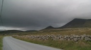 Stock Video Footage of Pan from Road to Mourne Mountains