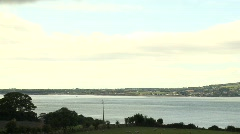 Cooley Peninsula as seen from Rostrevor - stock footage