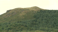Zoom out from mountain, Mourne, Co Down Stock Footage