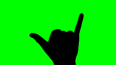 Hang loose green screen - HD Stock Footage
