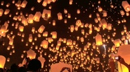 Loi Krathong Stock Footage