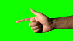 Pointing or shooting hand green V2 - HD Stock Footage