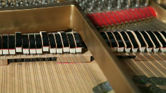 Grand piano hammer Closup Stock Footage