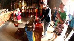 Gandan Monastery, UB, Mongolia Stock Footage