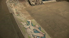 Skateboarder doing a blunt reverse Stock Footage