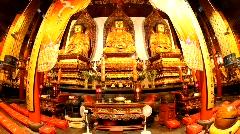 Jade Buddha Temple (Yufo Si) - Shanghai, China, fisheye Stock Footage