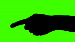 Hand pointing green screen - HD Stock Footage