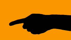 Hand pointing orange - HD Stock Footage