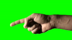 Hand pointing green screen V2 - HD Stock Footage