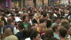 London crowd - stock footage