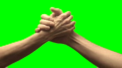 Arm wrestle green screen V2 - HD Stock Footage