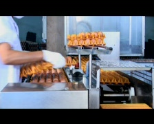 Stacking Eggs Onto A Conveyor Belt In A Processing Plant Stock Footage