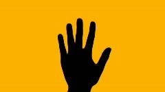 Hand wave orange - HD Stock Footage