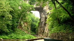 natural bridge time lapse - stock footage