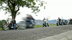 Motorcycle Rally ride for military fast P HD 2198 Stock Footage