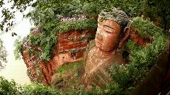 Giant Buddha, Leshan, China, time lapse Stock Footage
