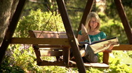 Woman in Park 302 Stock Footage