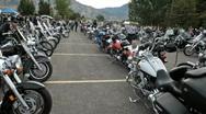 Motorcycle Rally walking P HD 2182 Stock Footage