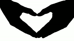 Heart hand sign white - HD Stock Footage