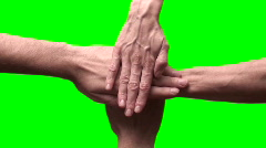 Celebratory hand pile green screen V2 - HD Stock Footage