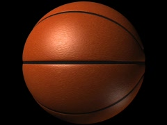 Basketball Loop-5 Sec Y Rotate-D1 Stock Footage