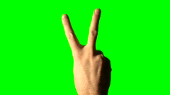 Peace sign green screen V2 - HD - stock footage