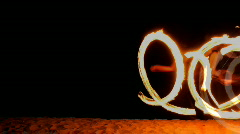 fire thrower performer circus woman dancer  - stock footage