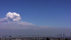 Los Angeles Wildfire Pyro Cumulus Time Lapse 1  x40 Stock Footage